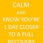 Recovery – Week 1 Done!